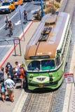 San Francisco Passengers Boarding Streetcar royalty-vrije stock foto's