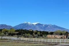 San Francisco Peaks. Mountain range in Flagstaff, Arizona royalty free stock photography