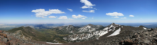 San Francisco Peaks Panorama Stock Photography