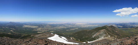 San Francisco Peaks Panorama. Panorama of northern Arizona from the summit of Mount Humphreys Royalty Free Stock Photos