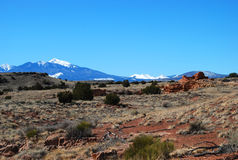 San Francisco Peaks: the view from Wupatki Royalty Free Stock Photo