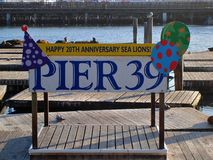 San Francisco Pier 39 20th Anniversary stock photography