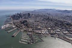 San Francisco Pier 39 Aerial Stock Image