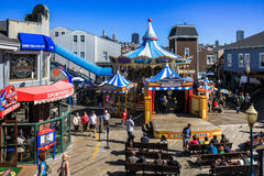 San Francisco Pier 39 Carousel and Stage stock image