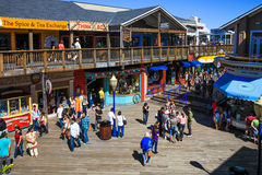 San Francisco Pier 39 Food, Shops, Fun Stock Image