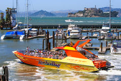 San Francisco Pier 39 Rocketboat to Alcatraz Stock Images