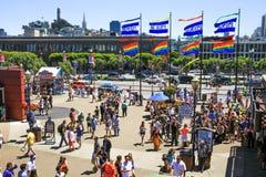 San Francisco Pier 39 und Stadt-Skyline Lizenzfreie Stockbilder