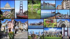 San Francisco postcard Royalty Free Stock Photography