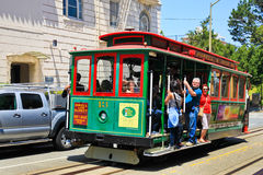 San Francisco Powell & Hyde Cable Car Russian Hill immagine stock