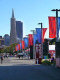 San Francisco prepares for America Cup. The America's Cup Park at Piers 27/29 on the Embarcadero is the center of activities during the 34th America's Cup in Stock Photos