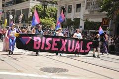 San Francisco Pride 2011. Bisexuals taking part in the 2011 San Francisco Pride parade Royalty Free Stock Photos