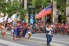 San Francisco Pride American Legion Parade Group Stock Photography