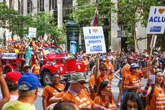 San Francisco Pride Parade ACLU grupp Arkivfoto