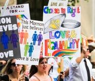 San Francisco Pride Parade - amour et égalité Images stock