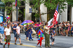 San Francisco Pride Parade Boy Scout Group Photo stock