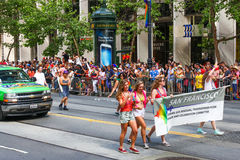 San Francisco Pride Parade Commitee Banner Immagini Stock