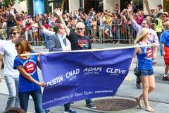 San Francisco Pride Parade - direitos iguais Foto de Stock Royalty Free