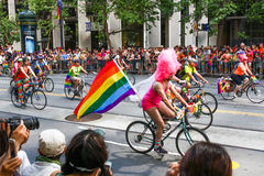 San Francisco Pride Parade - Dykes on Bikes and Bicycles Stock Images
