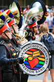 San Francisco Pride Parade Freedom Band Drummer Royaltyfria Foton
