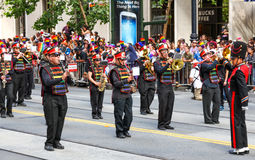 San Francisco Pride Parade Freedom Band Performing Imagenes de archivo