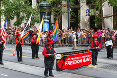 San Francisco Pride Parade Lesbian Gay Freedom Band Stock Photography