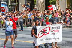 San Francisco Pride Parade Marriage Equality Etats-Unis Photo libre de droits