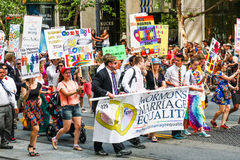 San Francisco Pride Parade Mormons pour l'égalité Photographie stock