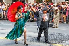 San Francisco Pride Parade Native American Group Immagine Stock Libera da Diritti