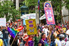 San Francisco Pride Parade PFLAG Members Royalty Free Stock Photo
