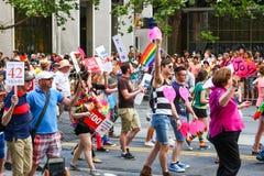 San Francisco Pride Parade - uguaglianza di sostegno Fotografie Stock Libere da Diritti