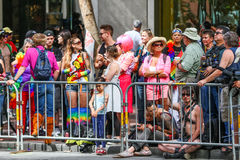 San Francisco Pride Parade Watchers Stock Image