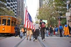 San Francisco - Protest Stock Afbeeldingen