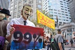 San Francisco - protesta 99% Fotografie Stock