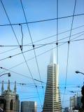 San Francisco Pyramid Building Skyline Royalty Free Stock Image