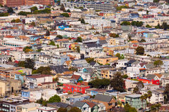 San Francisco residential area with small houses Stock Photo