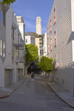 San Francisco residential neighborhood California. Stock Photography