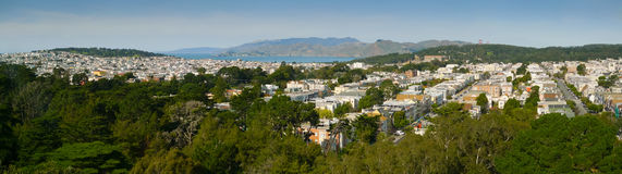 San Francisco Richmond District Panorama Royalty Free Stock Images