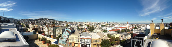 San Francisco Rooftops Stock Photo