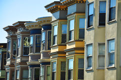 San Francisco Row Houses Royalty Free Stock Photography