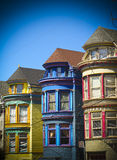 San Francisco row houses. Colorful row houses in the Haight area of San Francisco royalty free stock image