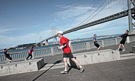 San Francisco, runners Stock Images
