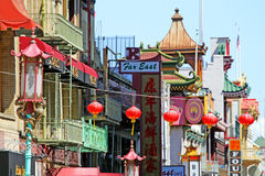San Francisco's Chinatown is one of North America's largest Chinatowns.  stock photos