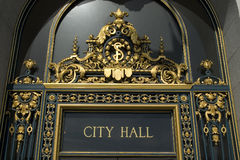 San Francisco's City Hall Sign Stock Photo