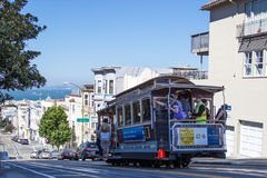 San Francisco's famous cable cars Royalty Free Stock Photos