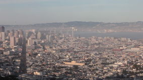 San Francisco's Foggy Twin Peaks Panoramic View Time Lapse stock footage