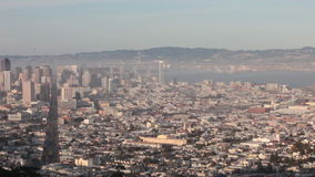 San Francisco's Foggy Twin Peaks Panoramic View Time Lapse stock video footage
