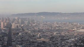 San Francisco's Foggy Twin Peaks Panoramic View Time Lapse stock video