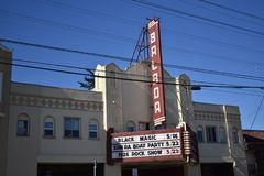 San Francisco`s historic Balboa theater, 1. With over seventy movie theaters in San Francisco at  the height of movie theater popularity, there already was Stock Images