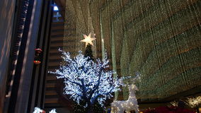 San Francisco`s Holiday Lights and Decorations. Hyatt Regency San Francisco Christmas decorations Royalty Free Stock Photos