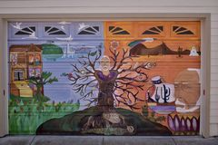 San Francisco`s world recognized Balmy Alley murals, 16. San Francisco`s Mission District has the highest concentration of murals of any neighborhood in the royalty free stock photos